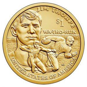 Amerika 1 dollar Jim Thorpe 2018