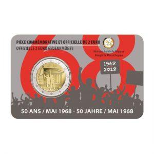 België 2 Euromunten Studentenopstand van 1968.