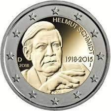 Helmut Schmidt 2 Euromunt 2018