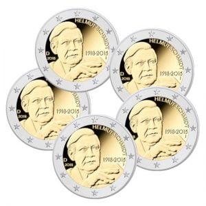 Duitsland 2 Euromunten Helmut Schmidt serie 2018